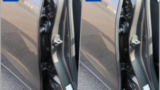 風切り音防止モール ドア用 取付前と取付後