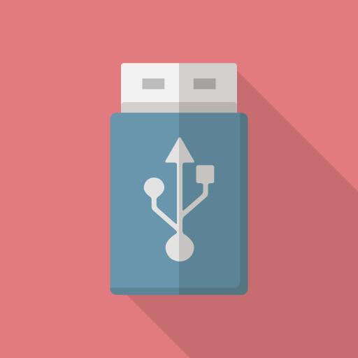USBメモリやHDDのフォーマット形式が(FLAT ICON DESIGNより)