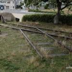 宇品波止場公園にある宇品線のモニュメント