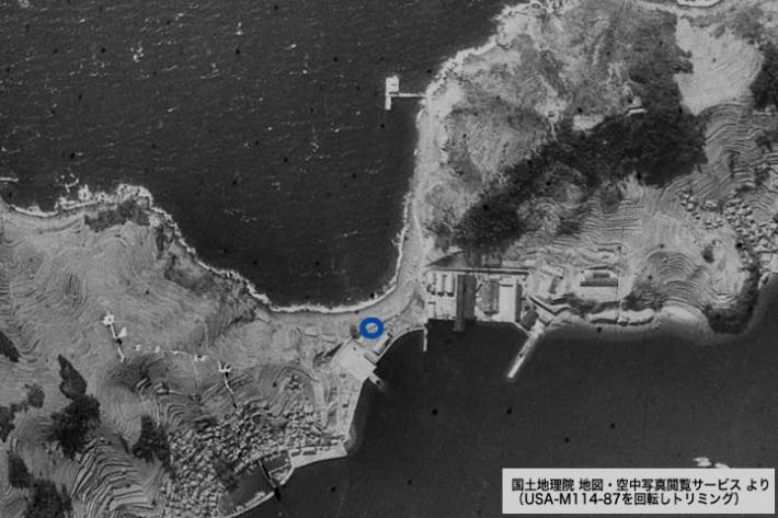 国土地理院 地図・空中写真閲覧サービスより 大津島回天基地
