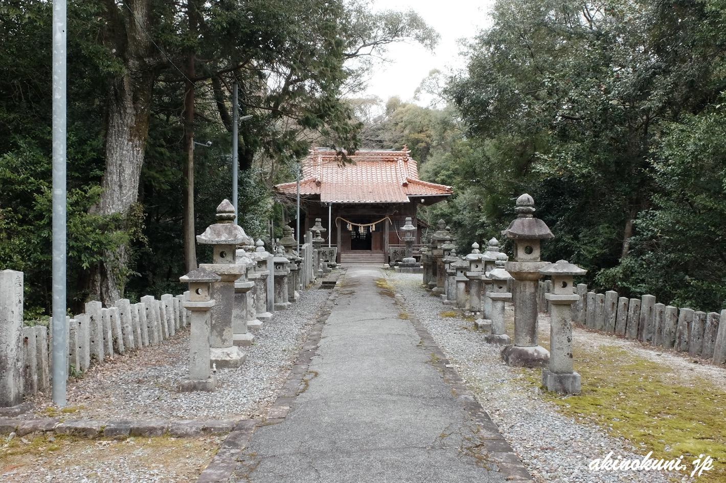 鮎原剣神社 階段を上ると