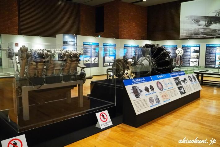 展示されていた複数のエンジン