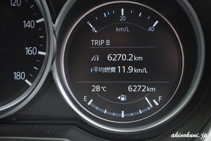1年ちょっと経った燃費は11.9km/L