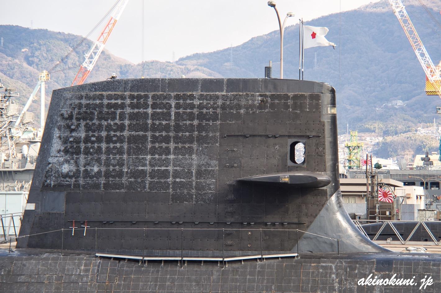 潜水艦 艦橋越しに風景をみる