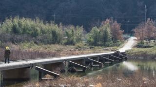 太田川の沈下橋 程原橋