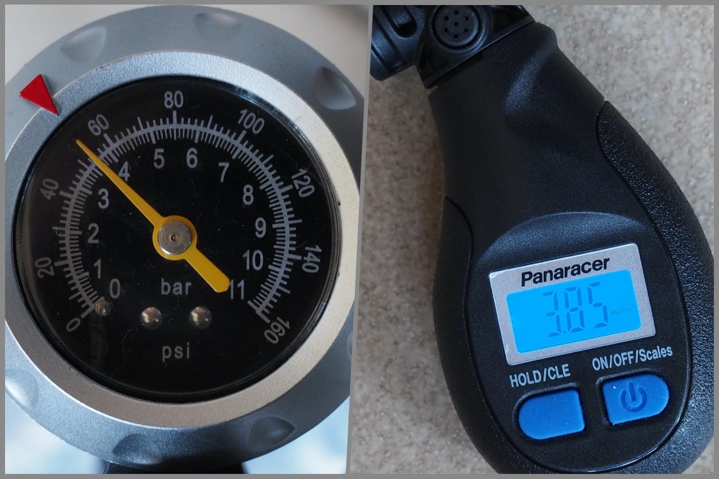 測定値の比較 前タイヤ