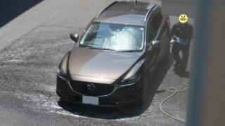 点検後に洗車をしてくれました