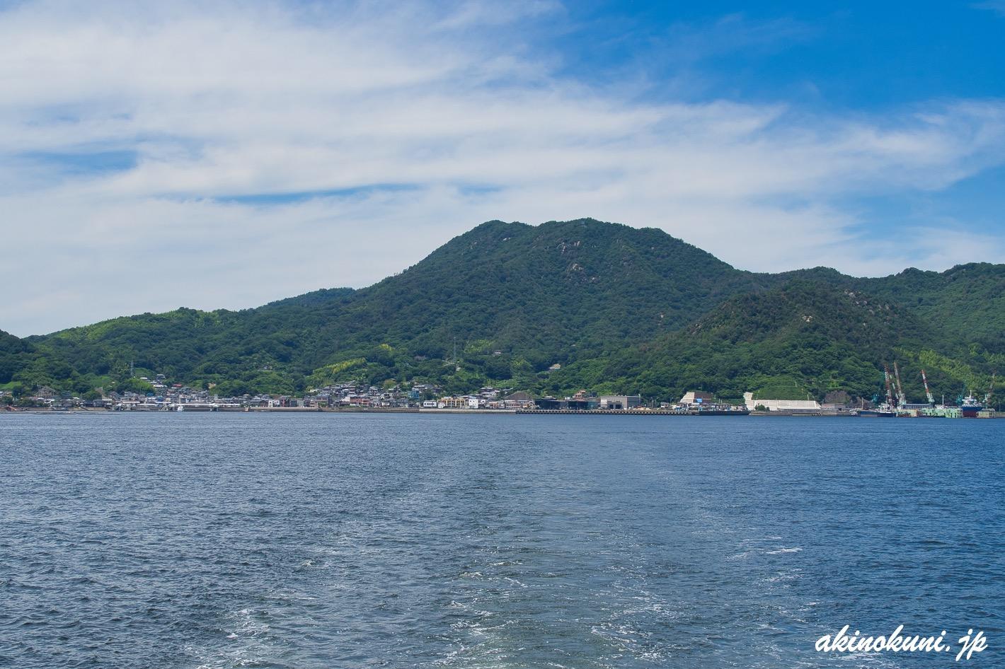 海上からみた江田島