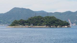 海上自衛隊の弾薬庫がある大麗女島